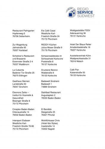 Neue Annahmestellen: Regio Geschenkgutschein, Geschenkartikel, Verschenken, Geschenkidee, Überraschung, Präsent, Gutschein, Geburtstag, Hochzeit, Weihnachten, Ostern, Jubiläum, Arbeitgeber Geschenkgutschein